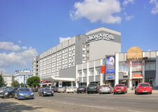 Tver. Hotel Volga Stock Photography