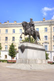 Tver. Municipal landscape. Monument to the prince to Mikhail Stock Photo