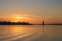 Tver Region, Russia. Kalyazinskaya bell tower: the flooded church in Kalyazin. Tver Region, Russia. Kalyazinskaya bell tower: the flooded church, Tver stock image