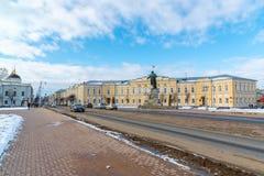 Tver Rosja, Luty, - 27 2016 Budynek miasto administracja w Radzieckim terenie Zdjęcie Royalty Free