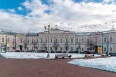 Tver Rosja, Luty, - 27 2016 Miasto dumy budynek na Sovetskaya ulicie Zdjęcia Royalty Free