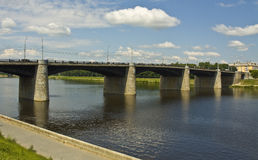 Tver, Russia, bridge Royalty Free Stock Image