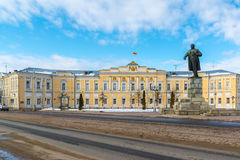 Tver, Russia - February 27. 2016.  Administration of  city of Tver, built in the 18th century Royalty Free Stock Photo