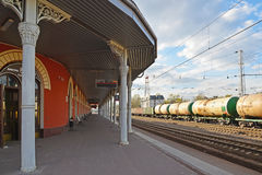 Tver, Russia - may 07.2017. General view of railway station Royalty Free Stock Photos