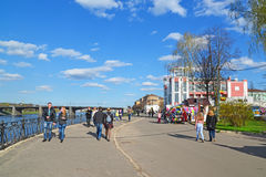 Tver, Russia - mogą 07 2017 Quay Mikhail Yaroslavich Obraz Royalty Free
