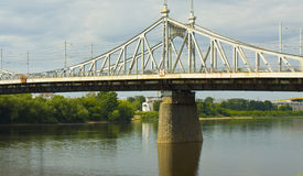 Tver, Russia, Old Volga bridge Royalty Free Stock Photos