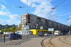 Tver, Russie - peuvent 07 2017 Rue de Tchaikovsky de vue au centre de la ville Images libres de droits