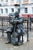 Tver, Russland - 27. Februar 2016 Der Monumenttexter und komponist Michael Krug Lizenzfreies Stockfoto