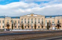 Tver Ryssland - Februari 27 2016 Administration av staden av Tver som byggs i det 18th århundradet Royaltyfri Bild