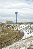 Tver. Stadioncentral Royaltyfria Foton