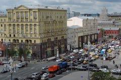 Tverskaya gata i Moskva Arkivfoto