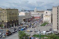 Tverskaya gata i Moskva Fotografering för Bildbyråer