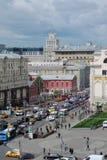 Tverskaya gata i Moskva Royaltyfri Foto