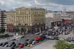 Tverskaya gata i Moskva Royaltyfria Foton