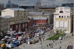 Tverskaya gata i Moskva Royaltyfri Fotografi