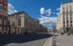 Tverskaya Street in Moscow, Russia Royalty Free Stock Photography