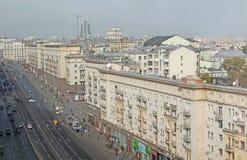 Tverskaya street. Moscow, Russia Royalty Free Stock Image