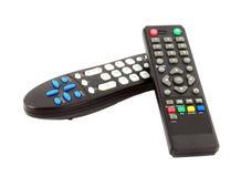 TVfjärrkontroll på vit bakgrund Royaltyfria Bilder