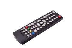 TVfjärrkontroll som isoleras på vit bakgrund Med att fästa ihop PA Royaltyfri Foto