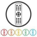 TVfjärrkontrollsymbol, 6 inklusive färger Royaltyfri Bild