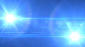 tvilling- övre för blå ner lampa Arkivbilder