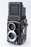tvilling- antik reflex för kameralins Royaltyfri Bild