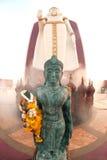 tvilling- buddha utomhus- standing Royaltyfria Foton