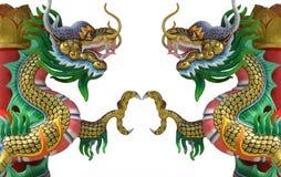 Tvilling- drake för kinesisk stil Royaltyfri Fotografi