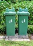 Tvilling- grönt fack Royaltyfria Foton