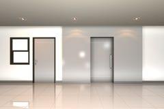 tvilling- hemmiljöframförande för dörr 3d Royaltyfri Foto
