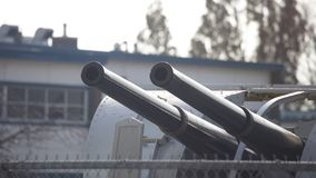 Tvilling- kanon för skepp Royaltyfri Bild