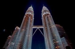 tvilling- Kuala Lumpur malaysia petronas torn Arkivbilder