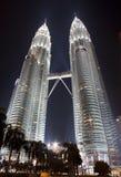 tvilling- Kuala Lumpur petronas torn Arkivfoton