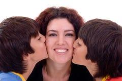 tvilling- kyss Royaltyfria Bilder