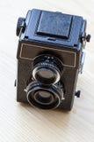 Tvilling--Lens kamera Royaltyfria Foton