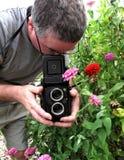 tvilling- linsfotografireflex Arkivbild
