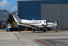 tvilling- modern turboprop för motor Royaltyfri Fotografi