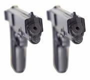 Tvilling- pistoler Royaltyfri Bild