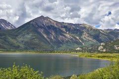 Tvilling- sjöar, Colorado arkivbilder