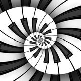 Tvilling- spiral för tangentbord 3D Fotografering för Bildbyråer