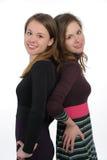 Tvilling- systrar Arkivfoton