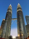 tvilling- torn Arkivfoto