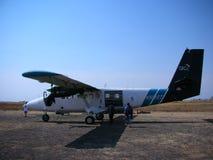 Tvilling- utter för flygplan. Royaltyfri Fotografi