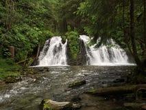 Tvilling- vattenfall arkivbilder