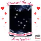 Tvillingarnazodiaktecken Gemini Horoscope konstellation, stjärnor prese Royaltyfri Bild