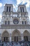 Tvillingbroder av Norte Dame Paris France Fotografering för Bildbyråer