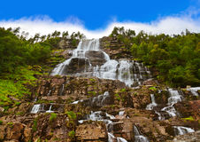 Tvinde Waterfall - Norway Royalty Free Stock Images