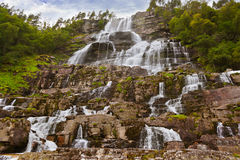 Tvinde Waterfall - Norway Royalty Free Stock Images