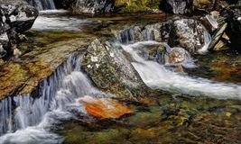 Tvindefossen瀑布胳膊 免版税库存照片
