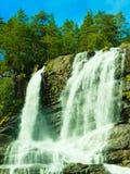Tvindefossen vattenfall nära Voss, Norge Fotografering för Bildbyråer